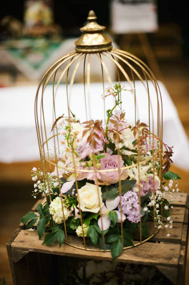 gold birdcage design