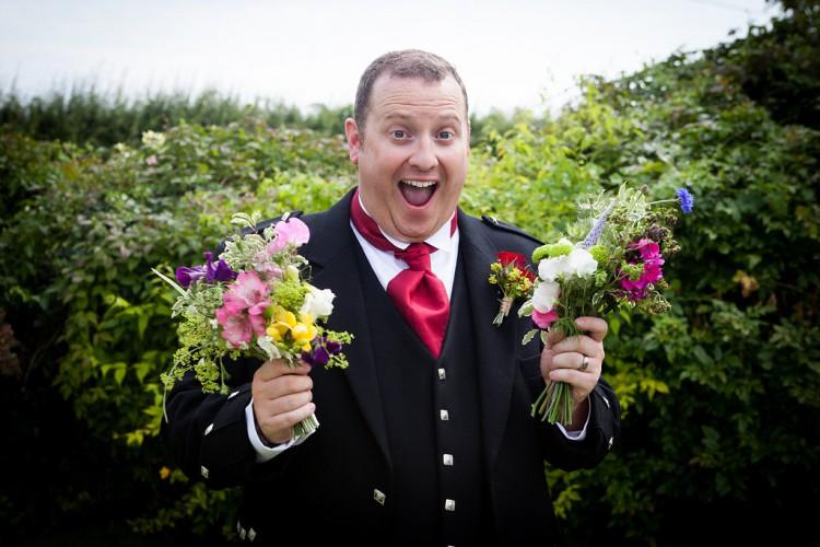 grinning groom!!