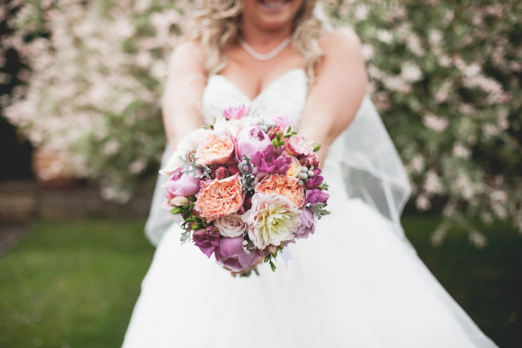 Beautiful bride and bouquet - kerryschofield
