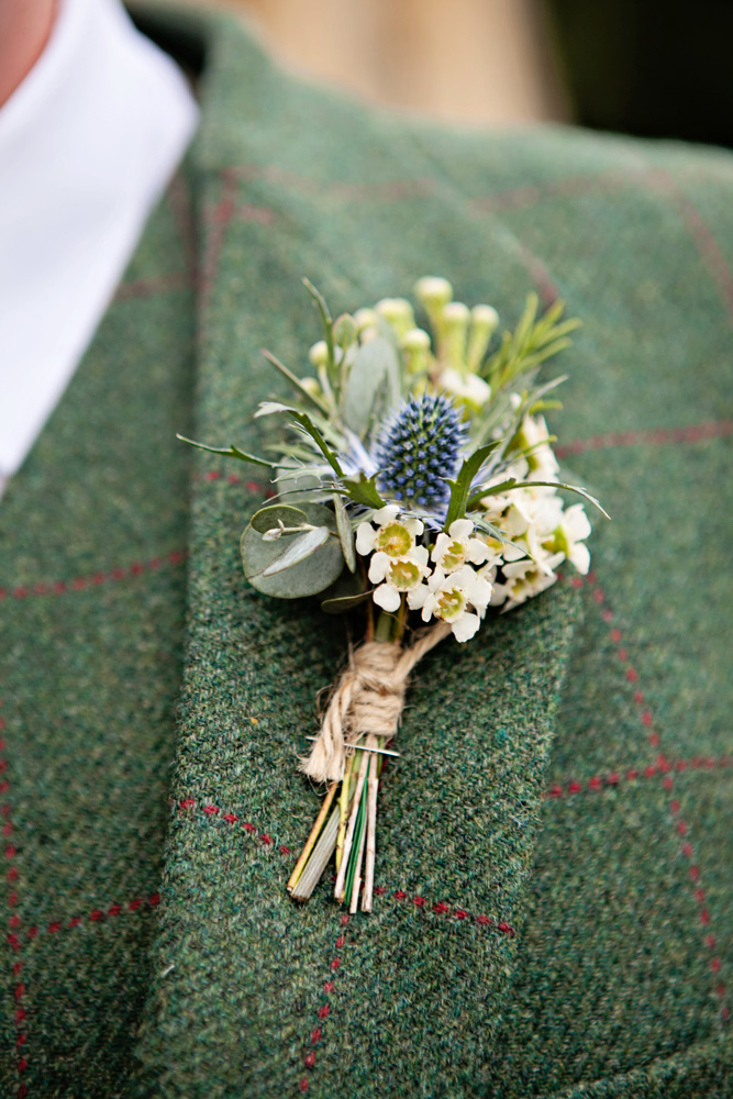 rustic thistle buttonhole