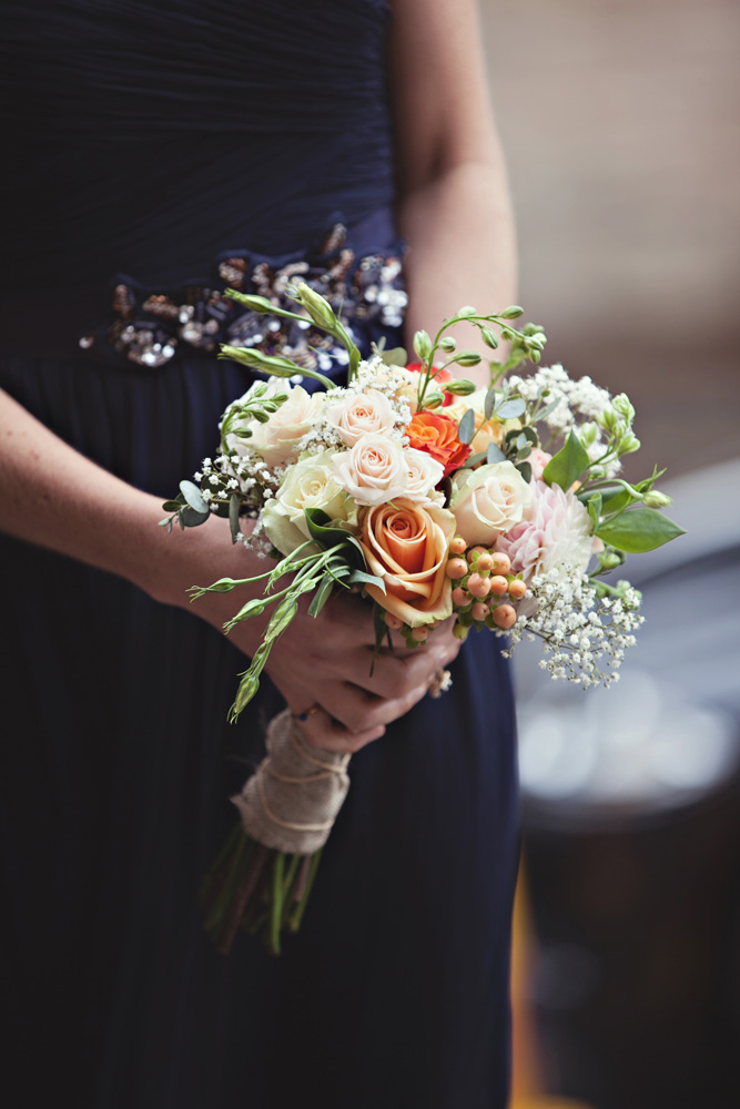 rustic autumn bridesmaid bouquet