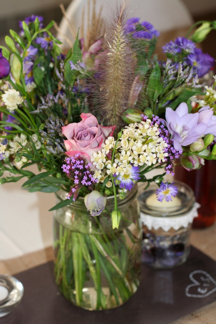 Purples In Painswick Erin And Steve S Rustic Wedding
