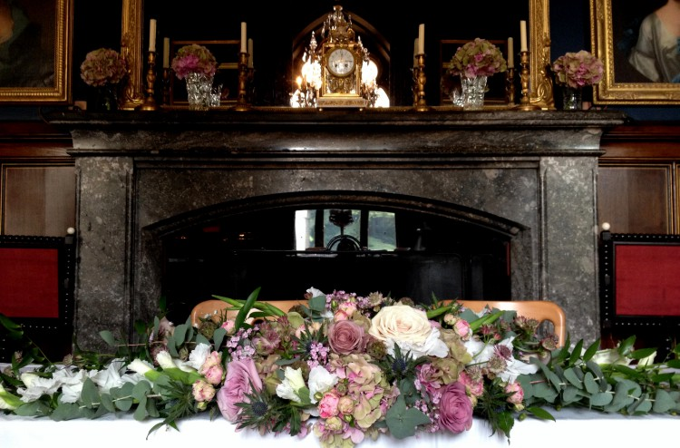 eastnor castle top table arrangement