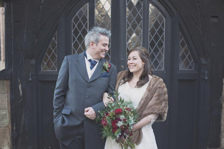 winter wedding at Lyde Court