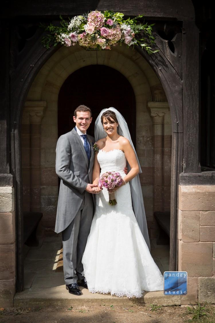wedding flowers at Eastnor church