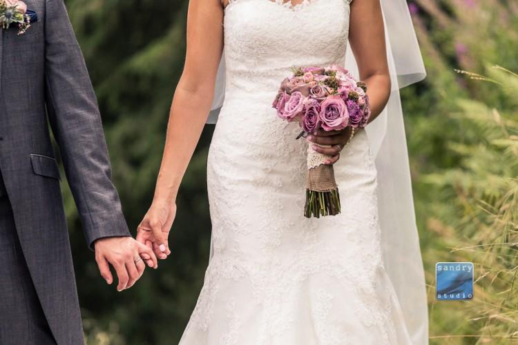 dusky pink rose bridal bouquet