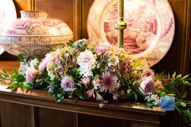 wedding flowers at Eastnor Castle