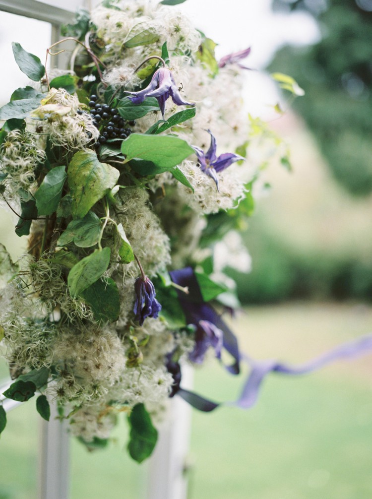 Old man's beard and clematis wreath