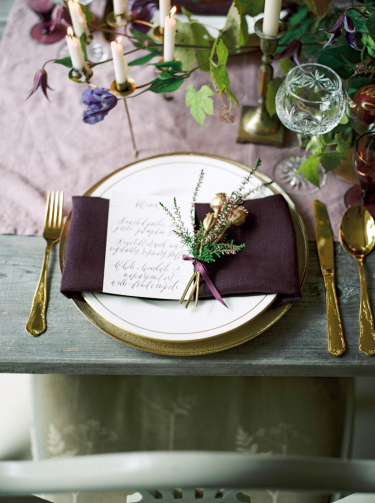 heather place setting