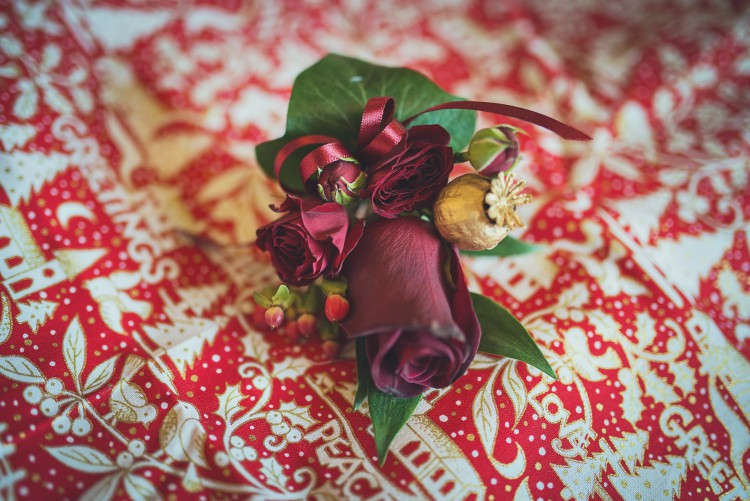 red rose buttonholes