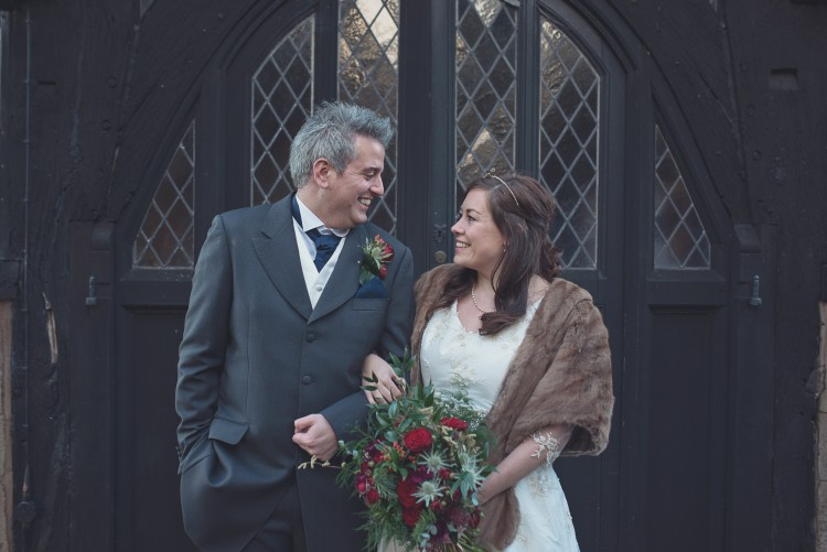 a rustic winter wedding at Lyde Court