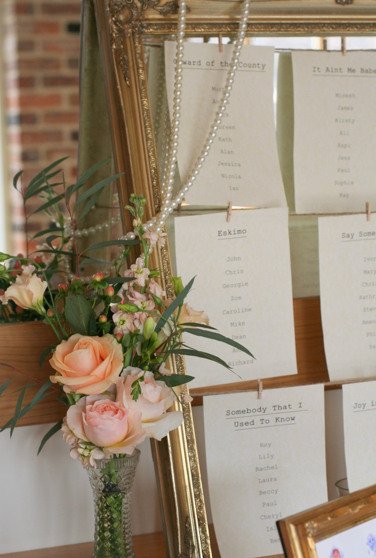 vintage style table plan