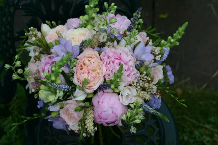 country bridal bouquet by jenny fleur