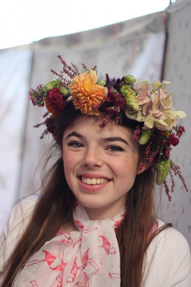 autumn floral crown