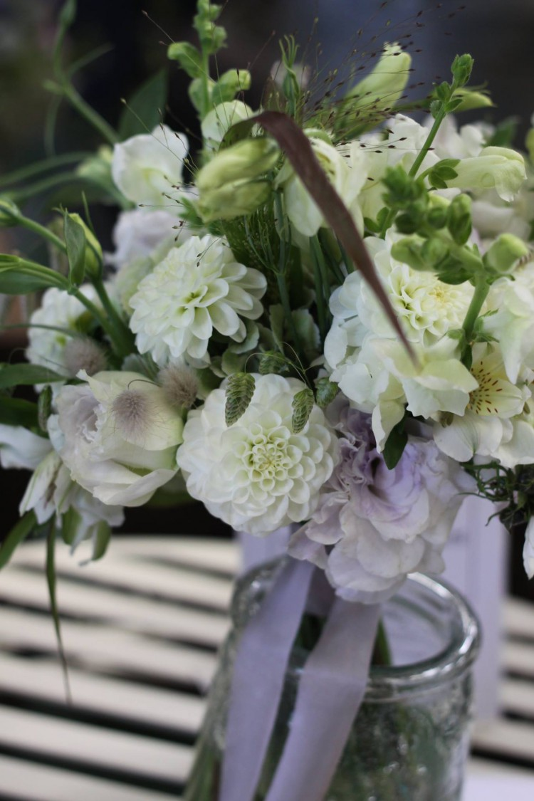 bridal bouquet with British flowers