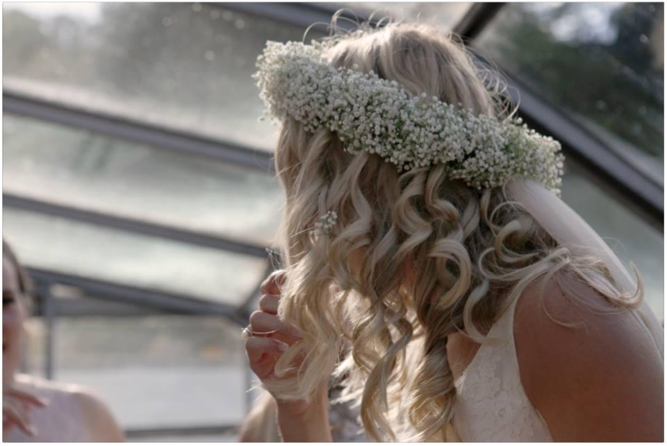 Gypsophilia flower crown