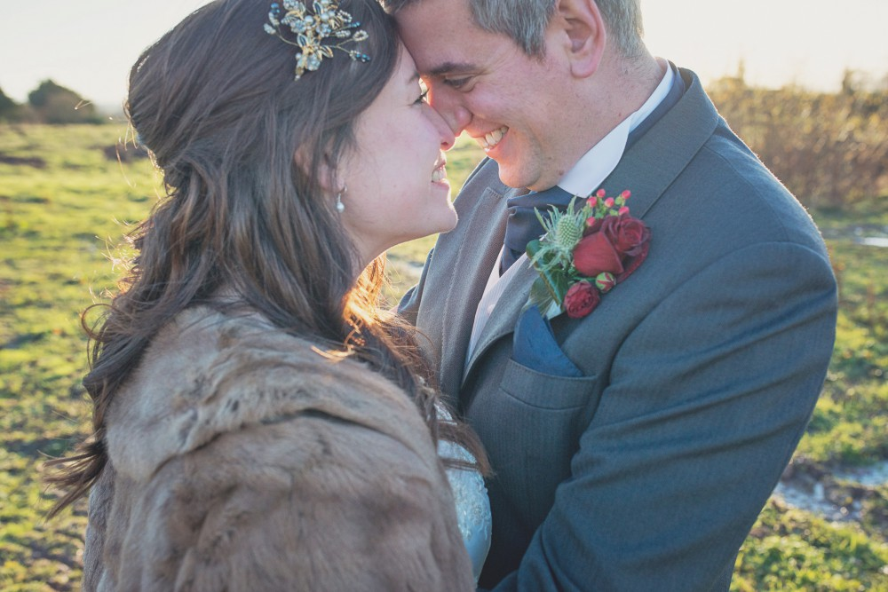 rustic winter wedding at Lyde Court
