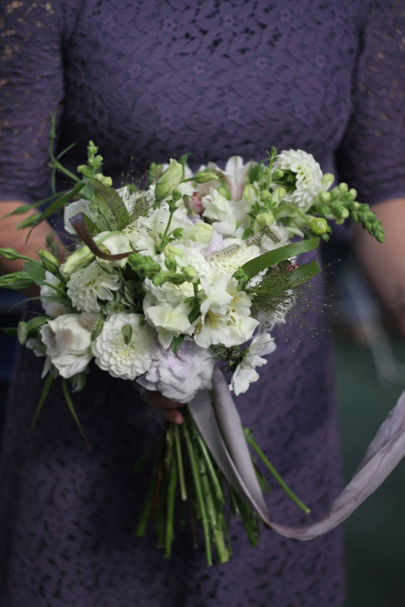 autumn bridal bouquet with British flowers