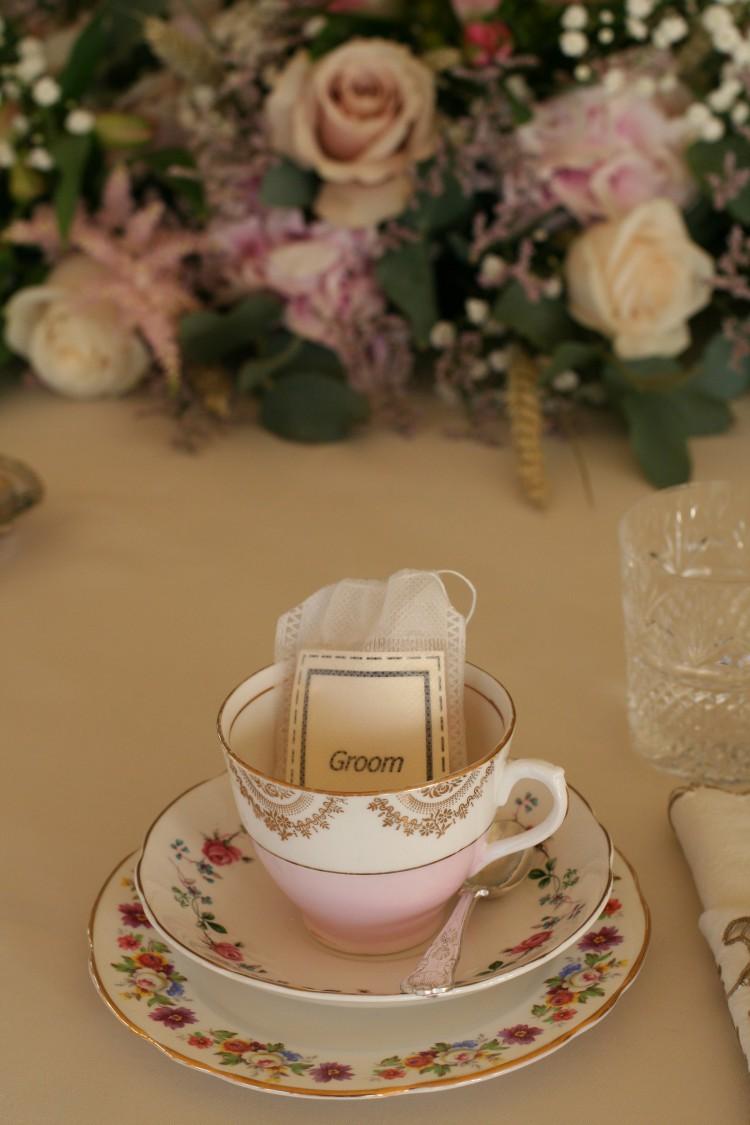 vintage tea party place setting