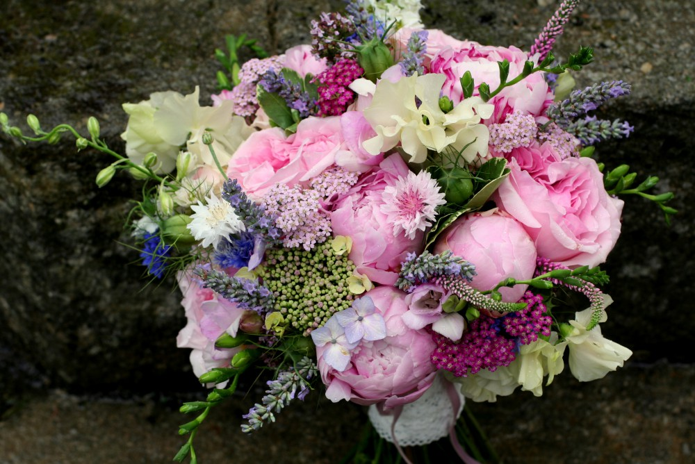 pink and lilac country bouquet