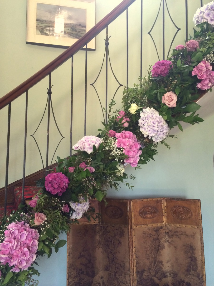 staircase garland at Homme House