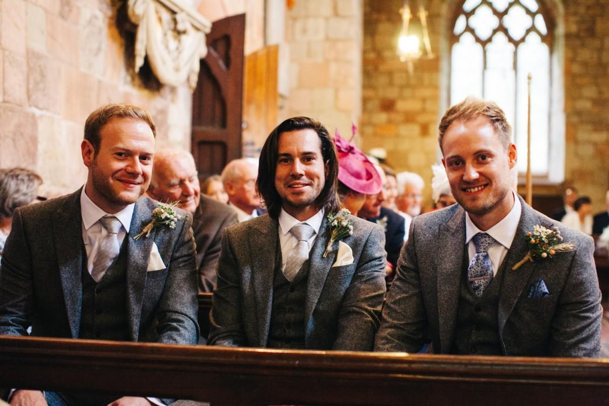 groomsmen at the church