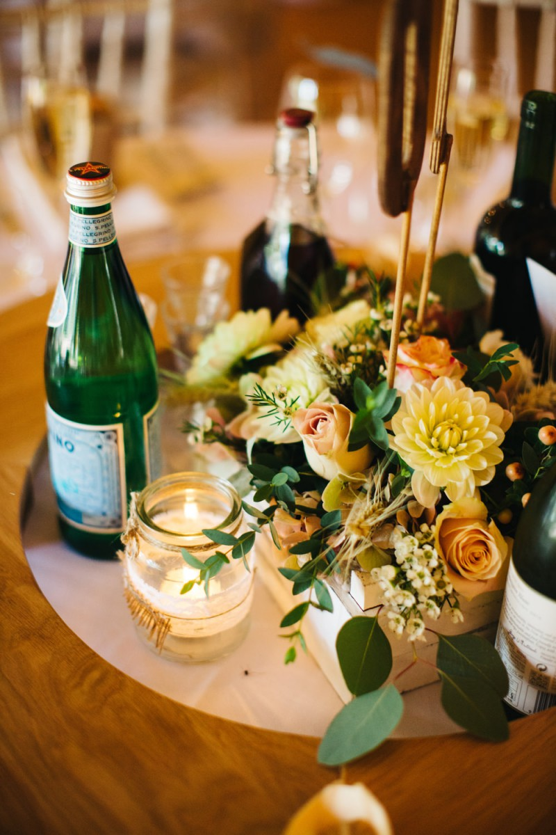 rustic wooden box table centre