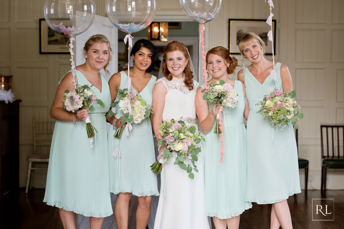 bride and bridesmaids at Homme House