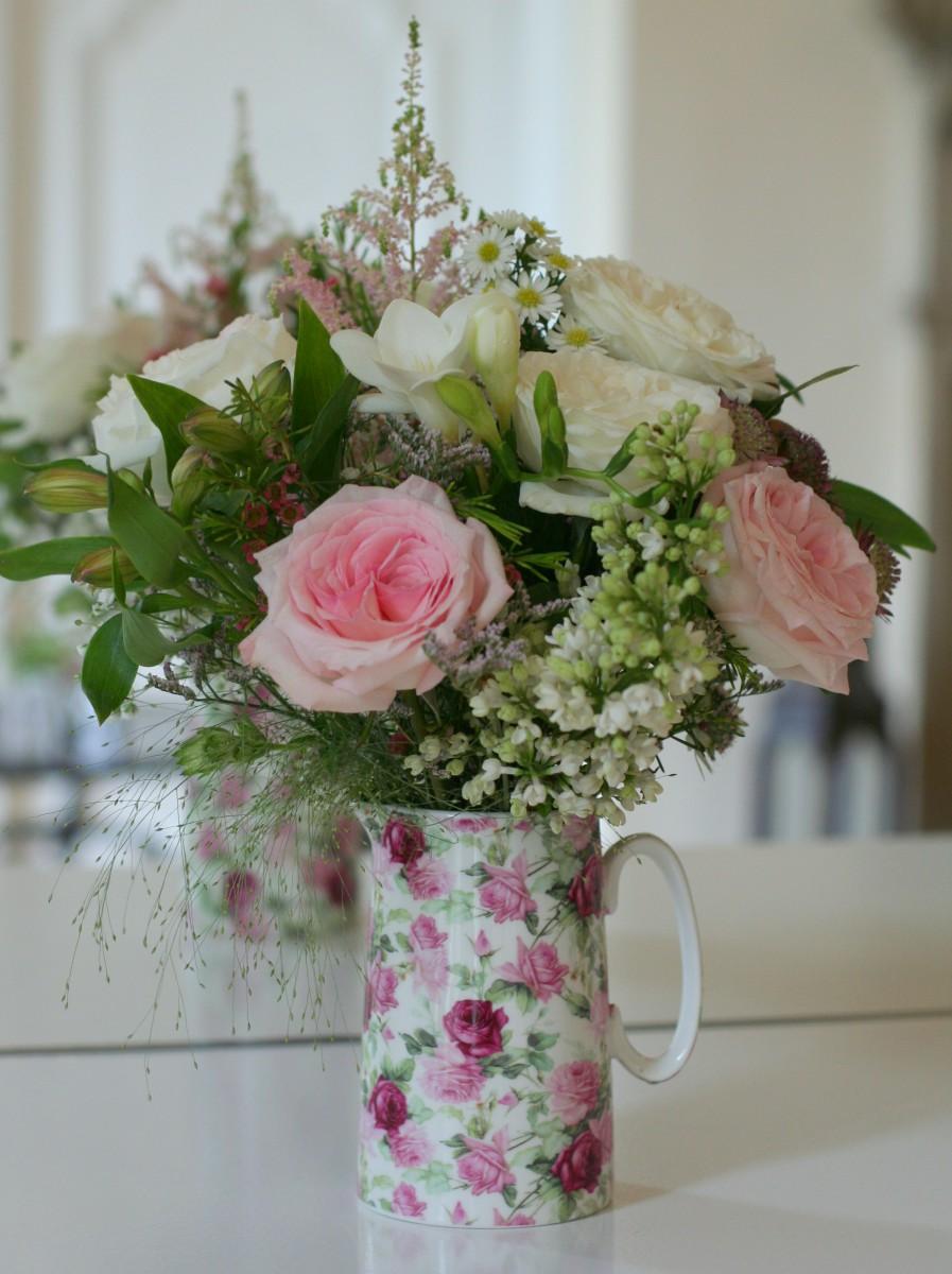 flowers in vintage jug
