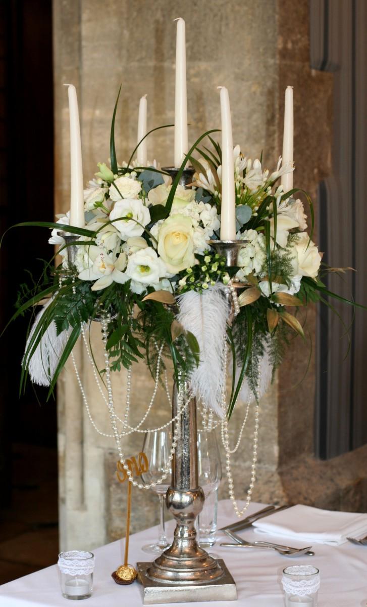 candelabra for a Gatsby wedding