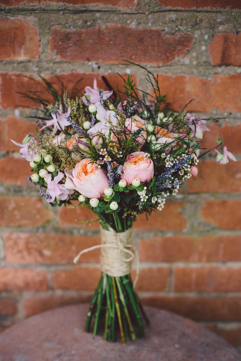 brides bouquet for a rustic wedding shoot