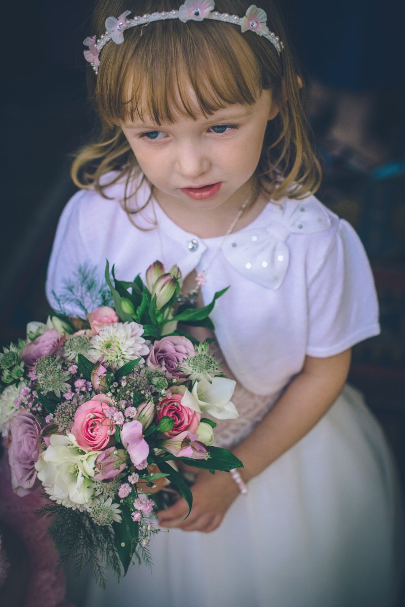 flower girl posy
