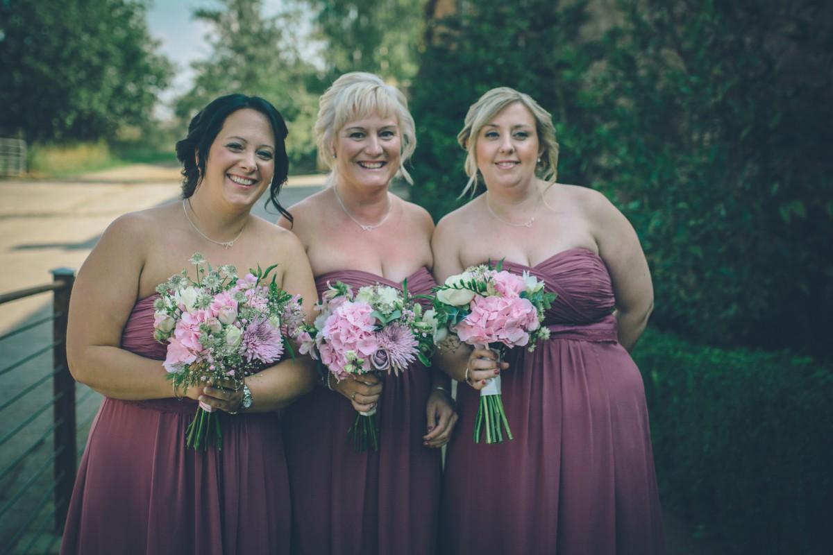 pastel pink bridesmaids bouquets
