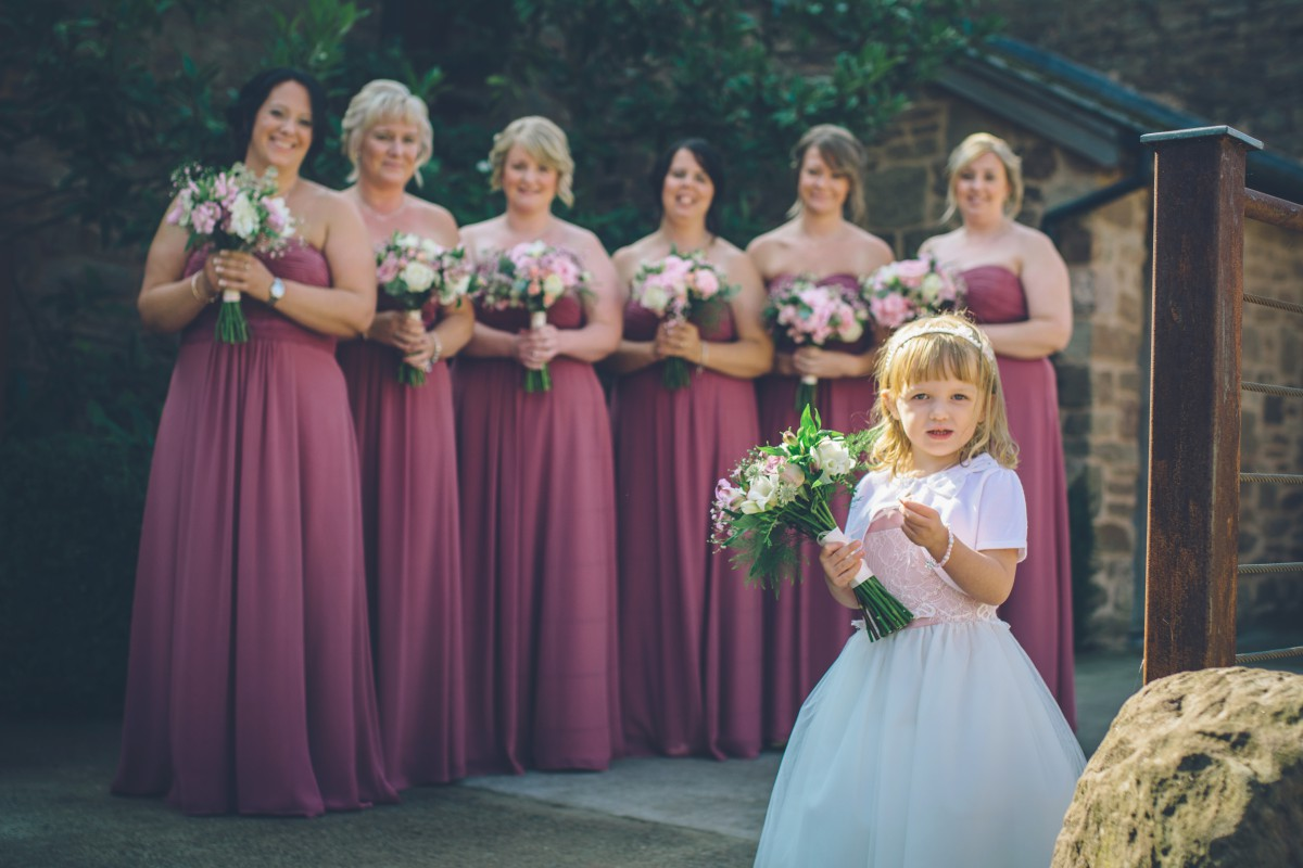 flower girl and bridesmaids bouquets