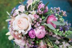 pastel rose brides bouquet