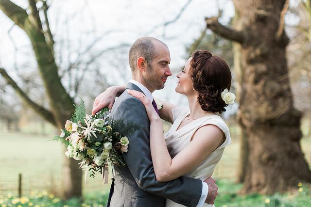 winter hellebore brides bouquet