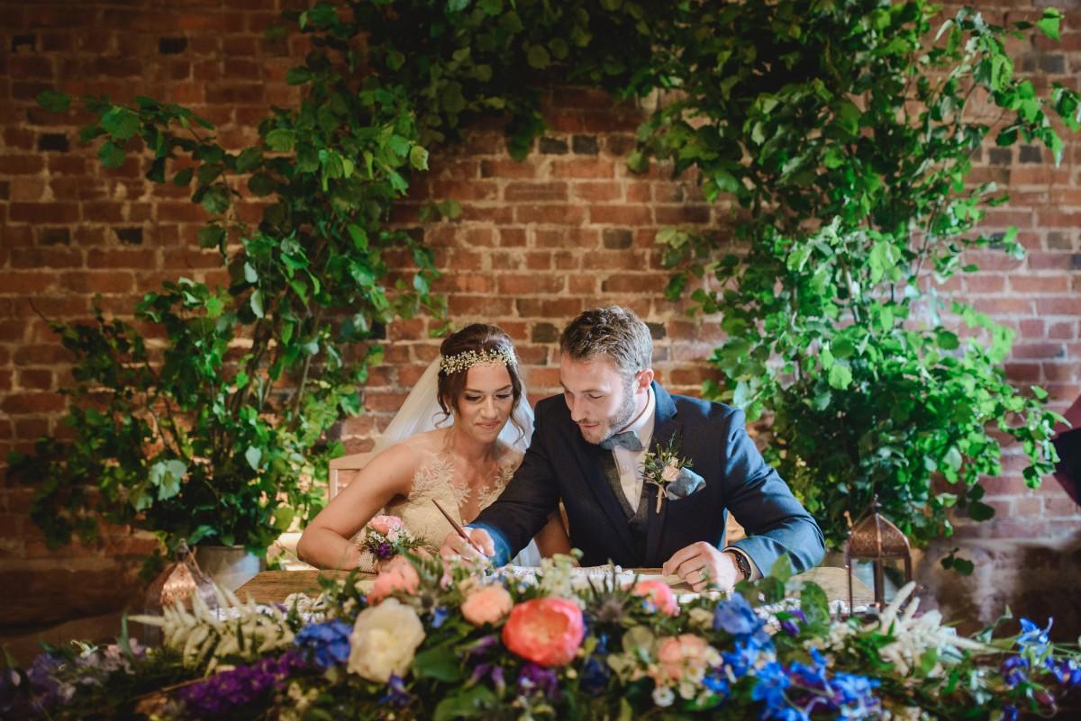 boho wedding flowers foliage arch