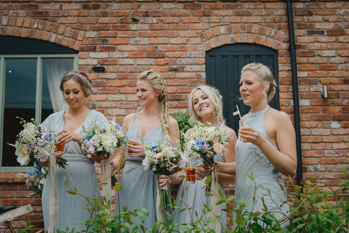 boho bridesmaids bouquets
