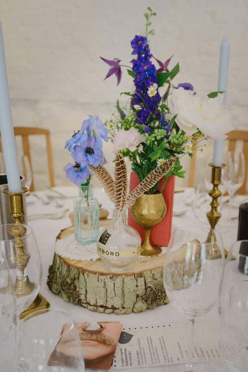 boho wedding flowers table centre