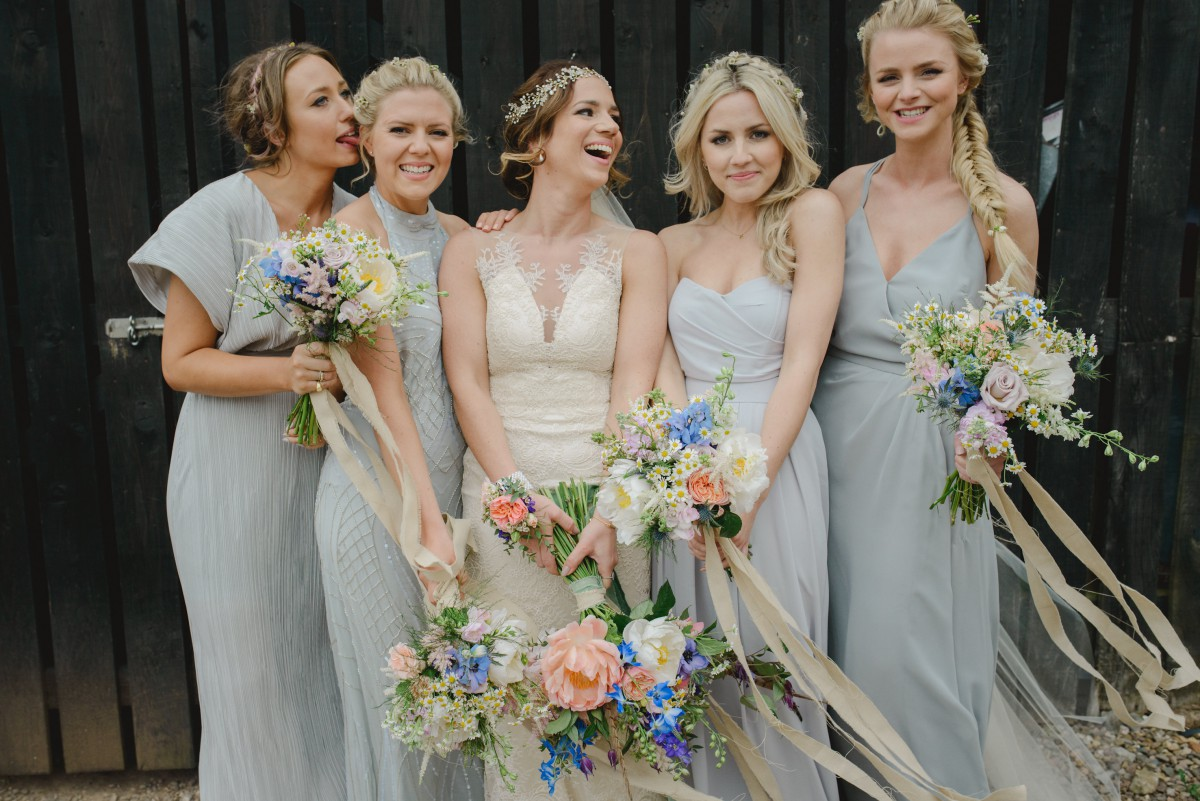 boho wedding flowers at The Curradine Barns