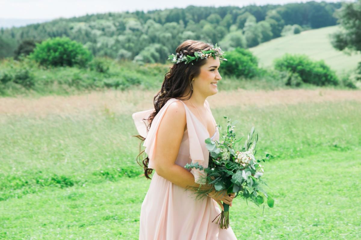 foliage bridesmaid bouquet