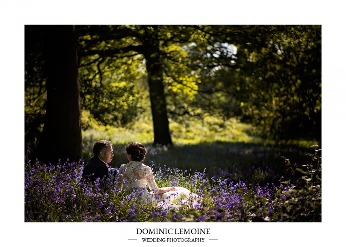 spring bluebell wedding