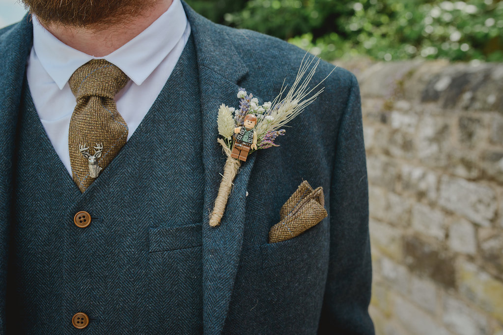 star wars grooms buttonhole