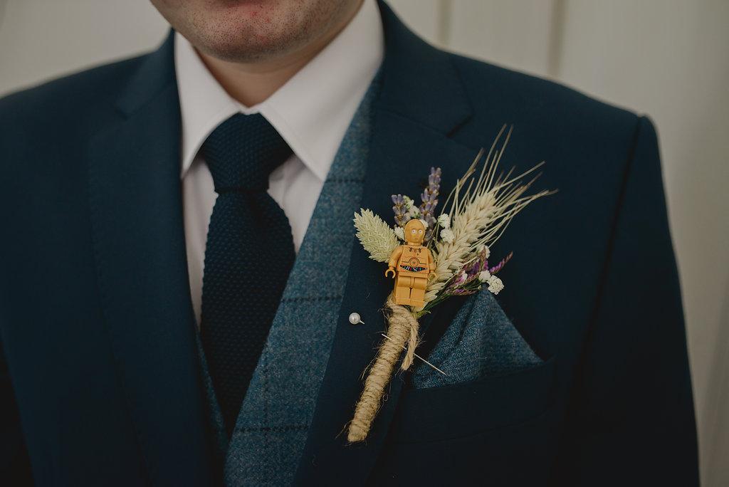 star wars rustic buttonhole