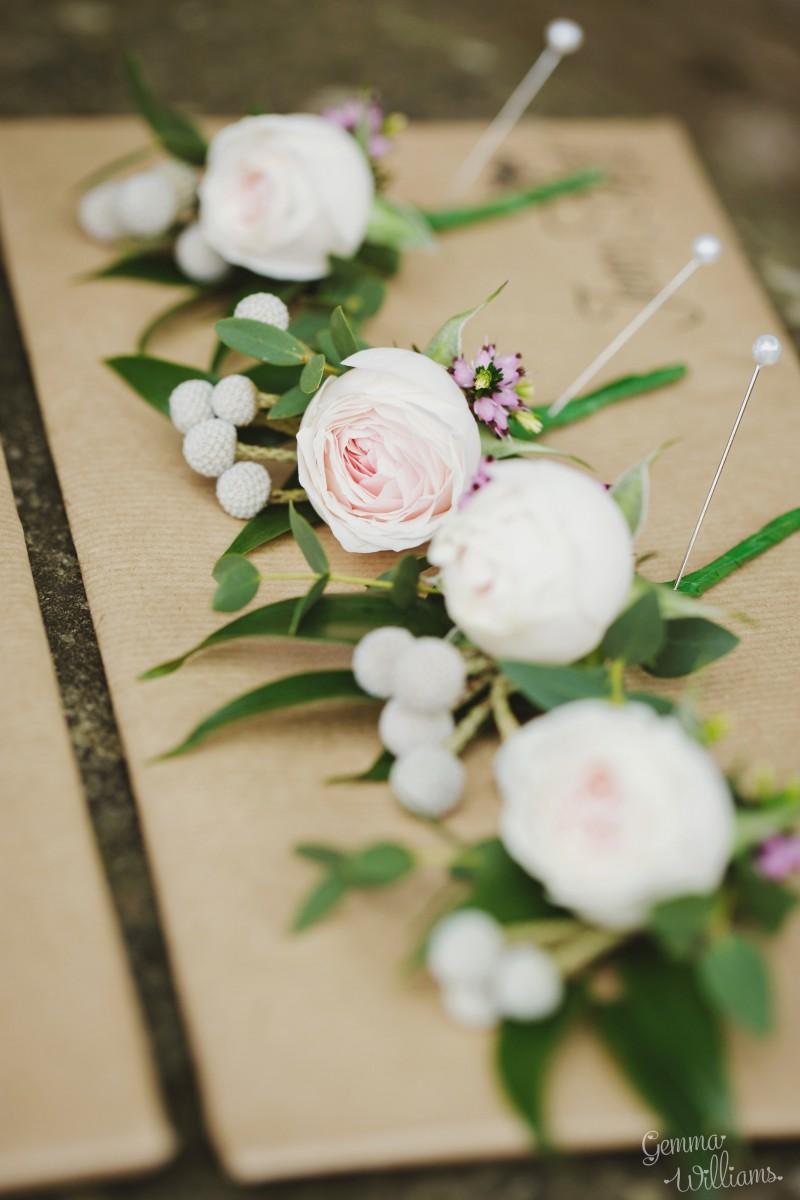 buttonhole Herefordshire wedding flowers
