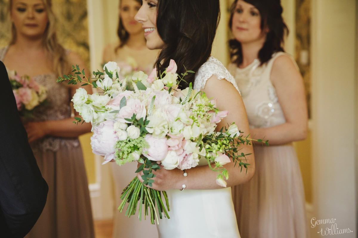 brides bouquet Herefordshire wedding flowers