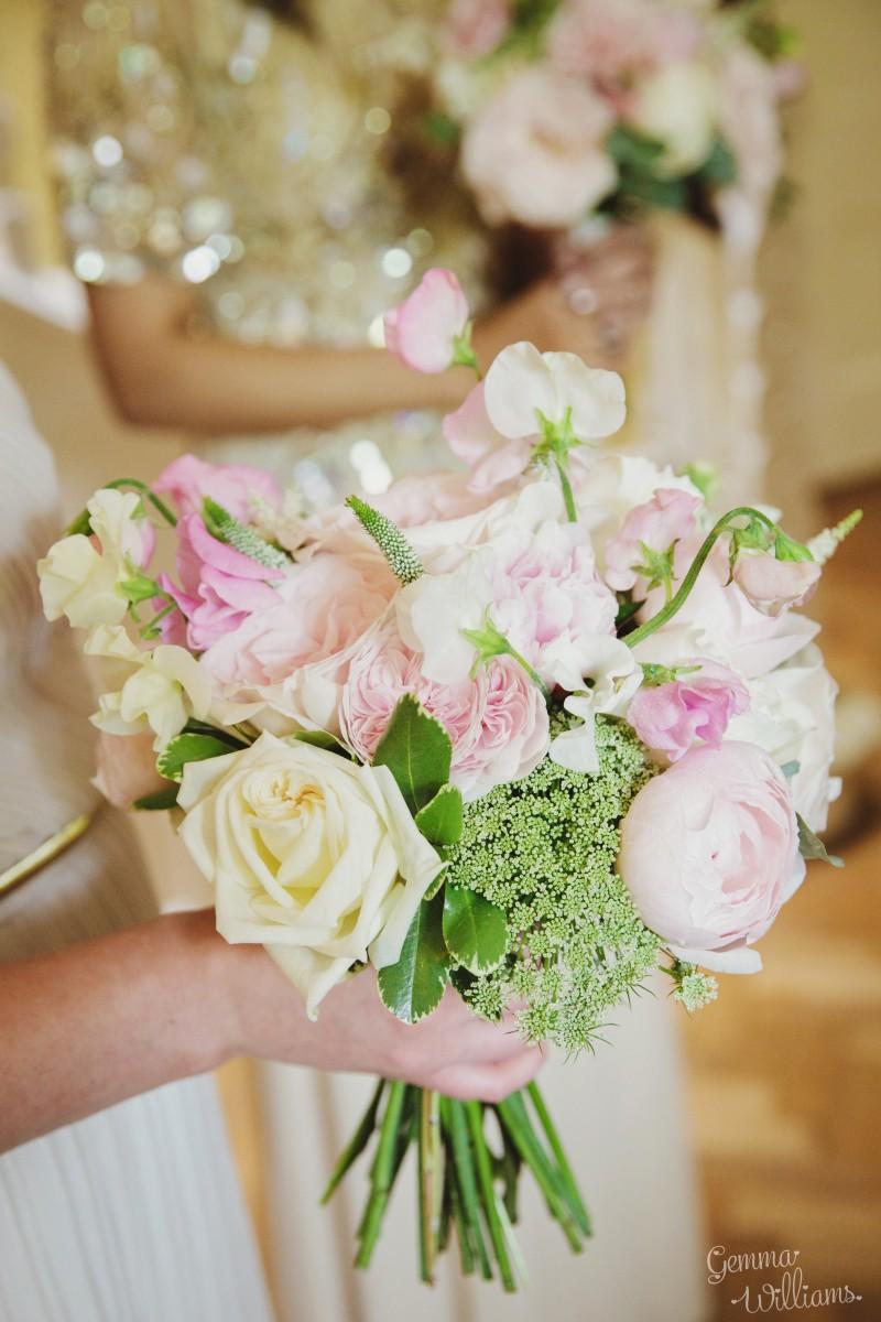 garden rose bridesmaids bouquet