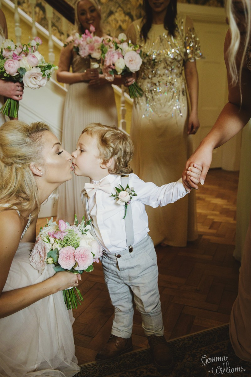 page boy buttonhole Herefordshire wedding