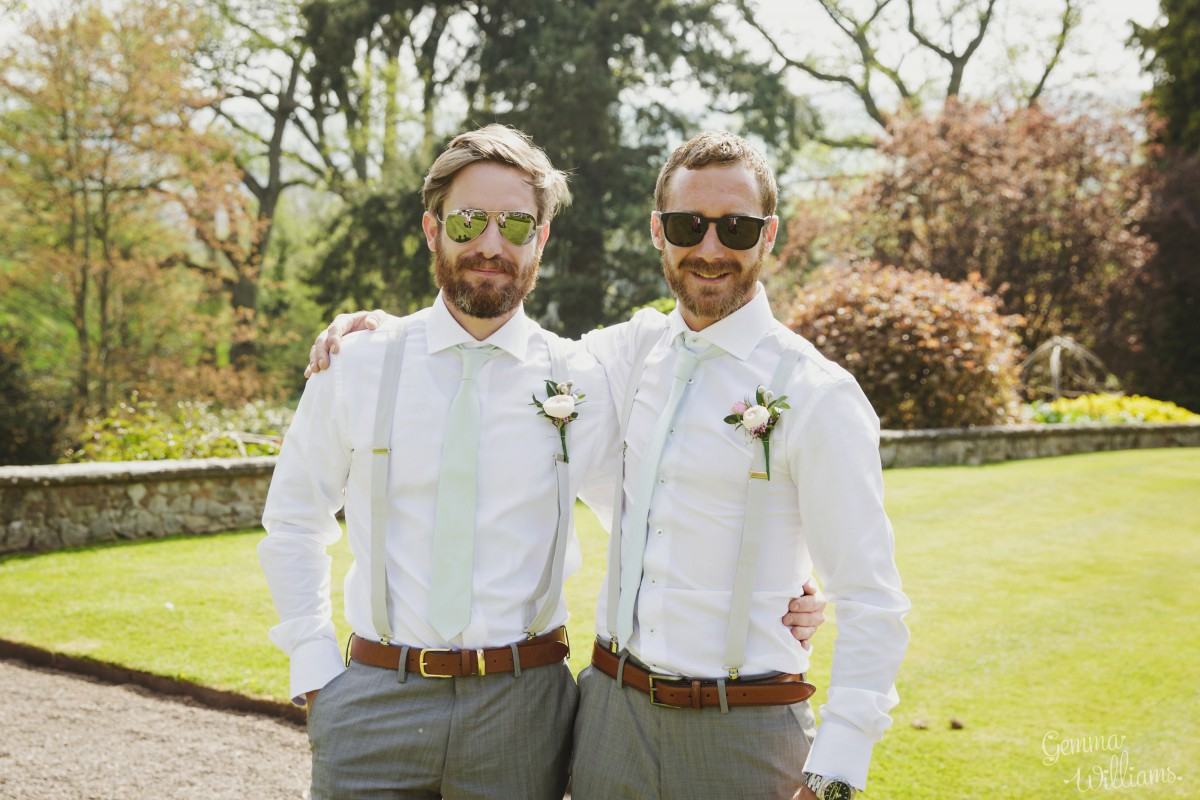 buttonholes Herefordshire wedding flowers