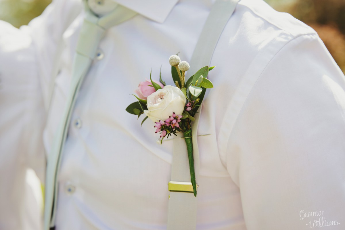 grooms buttonhole Herefordshire wedding flowers